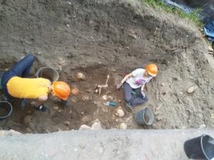 Archeologia Jakubowa - sezon 2019: niełatwa eksploracja ossuarium z S-7/19